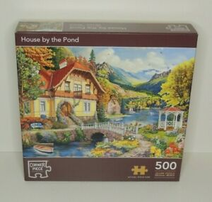 500 Piece Jigsaw Puzzle. 'House By The Pond'