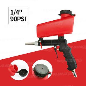 """1/4"""" Air Sandblasting Gun Portable Handheld Small Shot Media Blasting Tool 90PSI"""