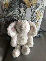 NEXT White Pink Floral Ears Bow Baby Girl Bunny Rabbit Soft Toy Comforter 13/10