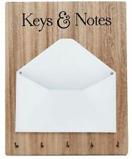 Wooden Key Letter Mail Notes Holder Hanging Organiser Rack Home Decoration