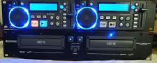 OMNITRONIC XCP-2800 MT DUAL CD PLAYER COME NUOVO USATO POCHISSIMO