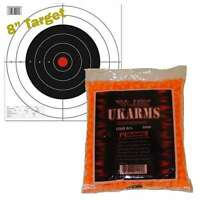 ORANGE 1,000 AIRSOFT BBs Pellets 6mm .12g BB For Pistol Gun Rifle AMMO + Target
