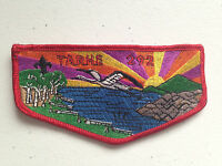 TARHE OA LODGE 292 SERVICE RED BORDER FLAP SCOUT PATCH MINT RARE
