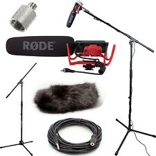 Rode VideoMic Studio Boom Kit - Black DeadCat, Boom Stand, Adapter, 25' Cable