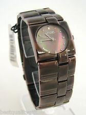 NEW A II Z by TIMEX BROWN MOP DIAL+BROWN IP BRACELET BAND WOMENS WATCH-V0V716