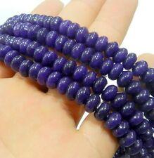 "Beautiful 5x8mm Amethyst Abacus Gems Loose Beads 15"""