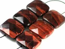 6 Pieces16mm Gleaming~RED TIGER EYE Faceted Square Beads