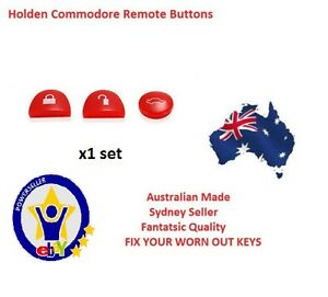 RED 1X Sets Key Remote Buttons Holden Commodore Key VS VT VX VY VZ WH WK WL