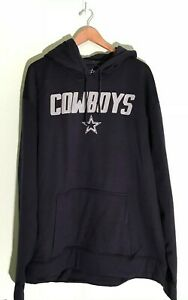 NWT Men DALLAS COWBOYS NFL Football Navy Blue Long Sleeve Hoodie Sweater 3XL NEW