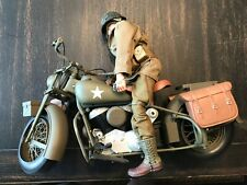21st Century Toys WW II Harley Courier Motorcycle w/Rider VERY RARE. NO BOX