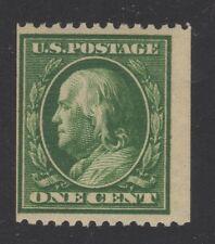 U.S. STAMP  #385 -- 1c WASH-FRANK -- FLAT, p12H, w190 -- 1910 -- MINT