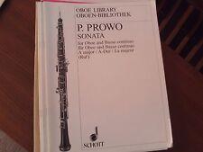 Pierre Prowa: Sonata on A for oboe - keyboard, continuo (Schott) copy 4
