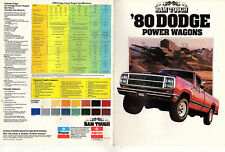 Ram Tough 1980 Dodge Power Wagons Vtge Brochure Photos Features Specifications
