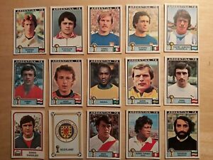 PANINI WORLD CUP ARGENTINA 78 STICKERS x 15