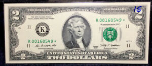 Uncirculated 2009 (K) Low Serial 2$ United States Star Note #16 ONLY 512000