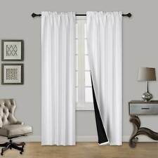 ULTIMATE 100% BLACKOUT HOTEL QUALITY WINDOW CURTAIN BLACK LINED BACKING TOM 1PC