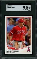 MIKE TROUT 2013 Topps #338 AL ROY (Angels) SGC 9.5 MT+