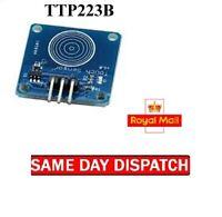 Numérique Capacitif Tactile Capteur Interrupteur TTP223B Module Arduino Pic 1/3