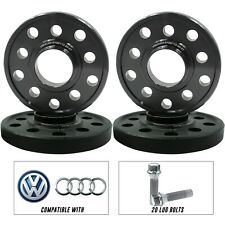 4 20mm Wheel Spacers + 20 lug bolts VW & Audi 5x112   5x100 57.1 HubCentric