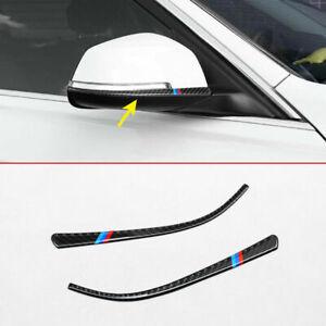 Carbon Fiber Rearview Strips For BMW 1 3 4 Series Door Side Mirror Accessories