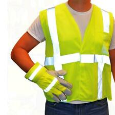 Westchester Protective Gear Hi-Vis Green Safety Vest and Gloves