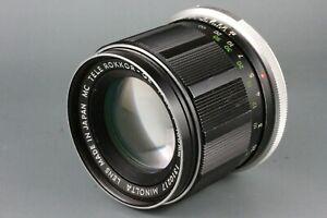AS IS Minolta Tele Rokkor -QE 100mm F3.5 Portrait Lens SRT 101 303 100 X700 #14