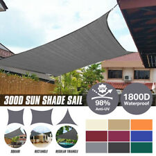 Outdoor Shade Sail Patio Suncreen Awning Garden Sun Canopy Shelter 98% UV Block