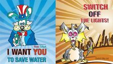 Fun Conservation Stickers - WATER & ENERGY Characters 10 Pack