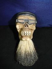 Badger Hair Custom Shaving Brush BIKER SKULL Design Barber Shop Shave NEW