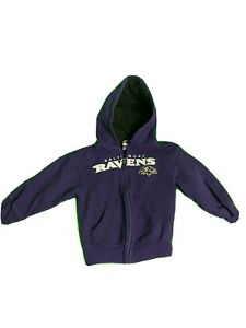 Baltimore Ravens NFL FullZIP Fleece Toddler Jacket Purple (Size: 3T)