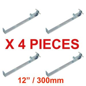 "PROFILE BRICK LAYING CLAMPS 12"" / 300MM X 4 PCS BRICK CLAMP TONGS BRICKLAYING"