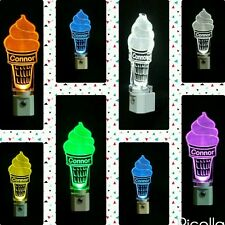 Personalized ice cream cone LED night light - Kids Lamp