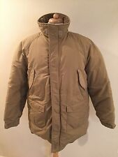 Rare VTG LL BEAN Khaki Down Feather Puffer Parka Arctic Coat Jacket Mens Sz L