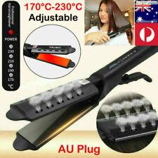 Professional Salon Ceramic Hair Straightener Heat Crimper Steam Styler Flat Iron