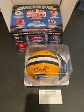 Davante Adams Autographed Green Bay Packers Speed Mini Helmet JSA Certified
