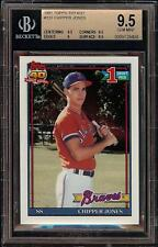 1991 Topps Tiffany #333 Chipper Jones Rookie RC BGS 9.5 Gem Mint HOF = PSA 10 !