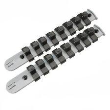 set kit 2 pz di rastrelliere x chiavi a bussola 1/4 rail set 16 clips