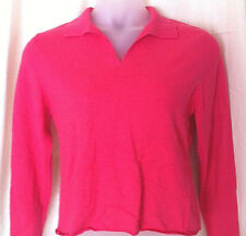 Cashmere Sweater Petite Large Hot Pink