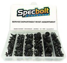 SPECBOLT PLASTIC PUSH RIVET ASSORTMENT FOR MOTORCYCLE SERVICE DEPARTMENTS