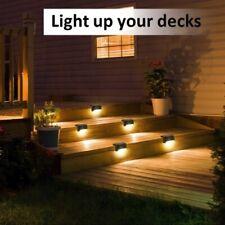 4/8pcs LED Solar Powered Light Step Path Wall Lights Garden Lamp Decking Outdoor