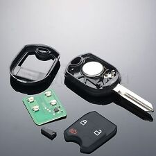 3 Btn Uncut Remote Head Ignition Keyless Entry Control Fob Transmitter for Ford