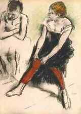 A4 Photo Degas Edgar Dancer in red stockings Print Poster