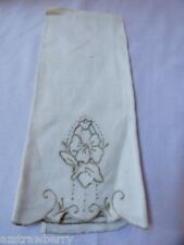 Vtg Madeira style Hand made Linen Embroidery towel Cloth Placemat doily