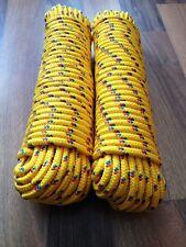 Reperaturseile Reepschnur 4-16 mm,30m Tau Gelb Strick,Kordel Kunststoffseil