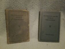 Lot Of 2 John Deere The Operation Care And Repair Of Farm Machinery