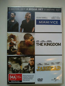 "3 Movie Set ""Miami Vice, The Kingdom & Jarhead"" (PAL Region 4)"