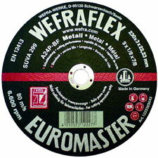 25 Metall-Trennscheiben 230 x 3 x 22,23, WEFRA Euromaster A24P, Universal, Stahl