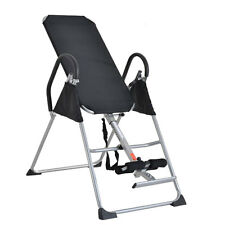 Foldable Inversion Table Chiropractic Therapy Fitness Back Relief Exercise