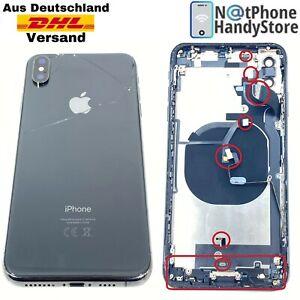 Original iPhone XS MAX Ersatz Gehäuse Backcover Glas Mittelrahmen Vormontiert