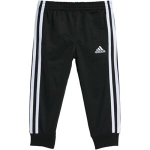 Adidas Infant Toddlers Iconic Joggers Track Pants Black-White CK7535